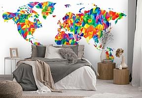 3D Фотообои «Полигональная карта мира» вид 4