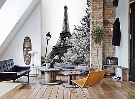 3D Фотообои «Цветущие деревья в Париже» вид 7