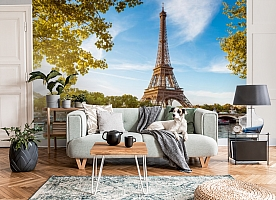 3D Фотообои «Лето в Париже» вид 3
