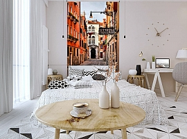 3D Фотообои «Венецианская улочка» вид 3