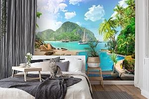 3D Фотообои «Курортный островок» вид 7