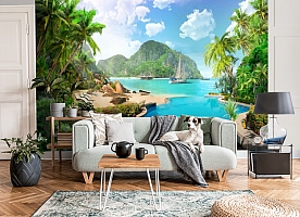 3D Фотообои «Курортный островок» вид 6