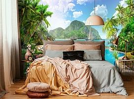 3D Фотообои «Курортный островок» вид 4