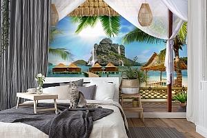 3D Фотообои «Тропическая терраса» вид 7