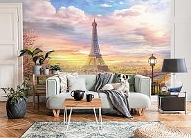 3D Фотообои «Весенний Париж» вид 6