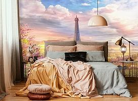 3D Фотообои «Весенний Париж» вид 4