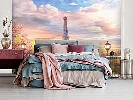 3D Фотообои «Весенний Париж» вид 3