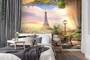3D Фотообои «Парижский ресторанчик» вид 7