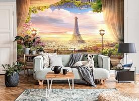 3D Фотообои «Парижский ресторанчик» вид 6