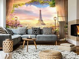 3D Фотообои «Парижский ресторанчик» вид 5
