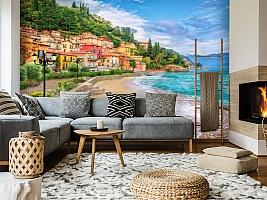 3D Фотообои «Прилив на итальянском побережье» вид 5