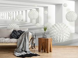 3D Фотообои «Колючие шары в тоннеле» вид 2