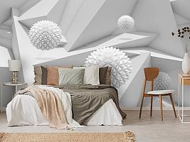 3D Фотообои «Колючие шары на объемном фоне» вид 3