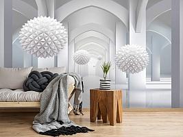 3D Фотообои «Объемная инсталляция в арочном тоннеле» вид 2