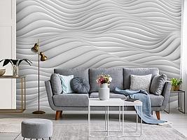 3D Фотообои «Объемные волны» вид 4