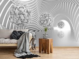 «Абстрактная композиция со сферами из треугольников» вид 2
