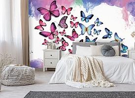 3D Фотообои «Красочные бабочки» вид 6