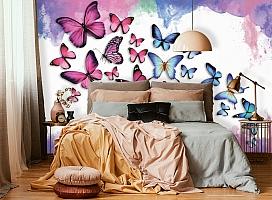 3D Фотообои «Красочные бабочки» вид 4