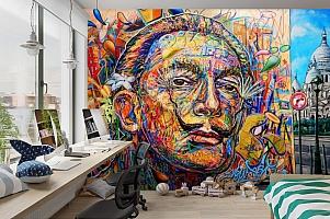 3D Фотообои «Стрит Арт Сальвадор Дали» вид 3