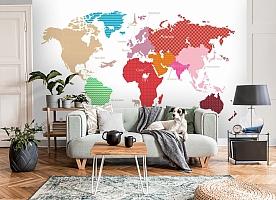 3D Фотообои «Карта континентов с узорами» вид 8