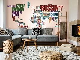 3D Фотообои «Континенты из слов» вид 7