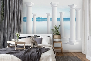 3D Фотообои «Абстракция с колоннами» вид 8