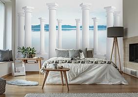 3D Фотообои «Абстракция с колоннами» вид 7