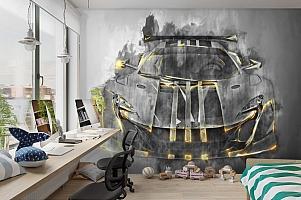3D Фотообои «Мощная спортивная машина» вид 3