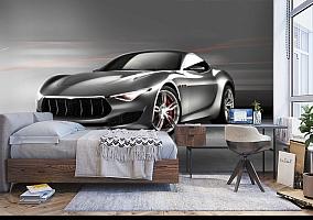 3D Фотообои «Современный автомобиль в серых тонах» вид 5