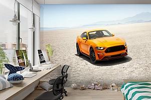 3D Фотообои «Мустанг в пустыне» вид 3