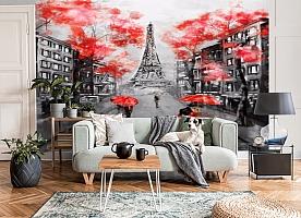 3D Фотообои «Париж - город любви»