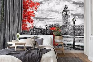 3D Фотообои «Романтичный осенний Лондон»