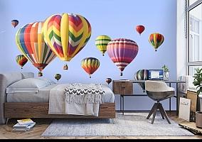 3D Фотообои  «Воздушные шары»  вид 5