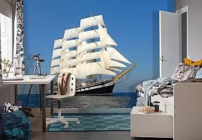 3D Фотообои  «Парусный корабль» вид 4