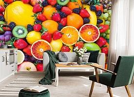 3D Фотообои «Цитрусы с ягодами» вид 7