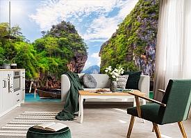 3D Фотообои  «Горы и море»  вид 6
