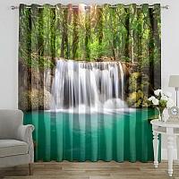 Фотошторы «Водопад в лесу» вид 7