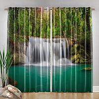 Фотошторы «Водопад в лесу» вид 4