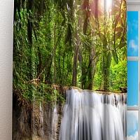 Фотошторы «Водопад в лесу» вид 3
