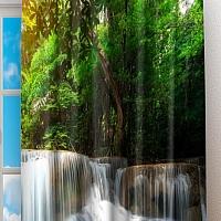 Фотошторы «Водопад с голубой водой» вид 2
