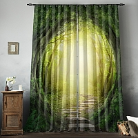 Фотошторы «Тоннель из деревьев» вид 8