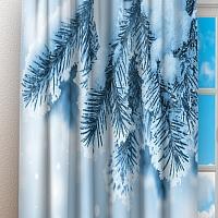 Фотошторы «Ветка ели в снегу» вид 3