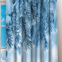 Фотошторы «Ветка ели в снегу» вид 2