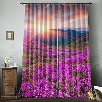 Фотошторы «Рассвет на цветочной поляне» вид 8