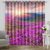 Фотошторы «Рассвет на цветочной поляне» вид 7