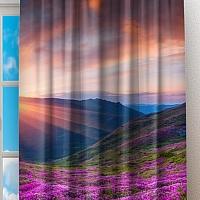 Фотошторы «Рассвет на цветочной поляне» вид 2