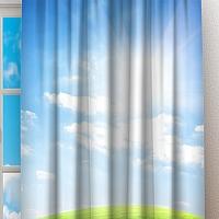 Фотошторы «Утренний зеленый луг» вид 2