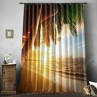 Фотошторы «Закат под пальмами» вид 8