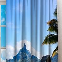 Фотошторы «Пейзаж на Мальдивах» вид 2