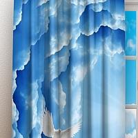 Фотошторы «Голуби в небе» вид 3